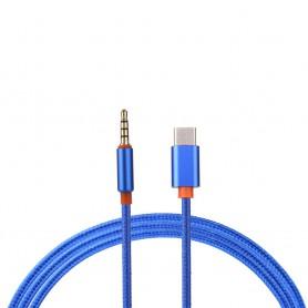 NedRo - USB-C Type C Male naar Audio Jack 3.5mm Male - Audio adapters - AL029-BU www.NedRo.nl