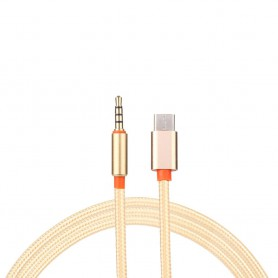 NedRo, USB-C Type C Male to 3.5mm Male Jack Audio, USB to Audio cables, AL029-CB, EtronixCenter.com