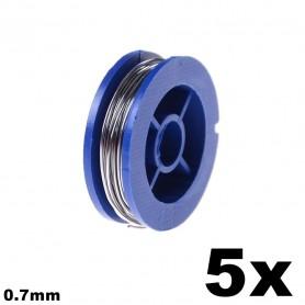 Unbranded - Sarma de lipire 0.7mm - Accesori lipire - AL011-5x www.NedRo.ro