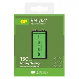 GP 6F22/9V GP ReCyko+ 150 Series 150mAh oplaadbaar