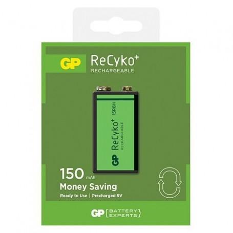 GP - GP 6F22/9V GP ReCyko+ 150 Series 150mAh oplaadbaar - Andere formaten - BL265-1x www.NedRo.nl