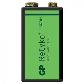 GP - GP 6F22/9V GP ReCyko+ 150 Series 150mAh oplaadbaar - Andere formaten - BL265-CB www.NedRo.nl