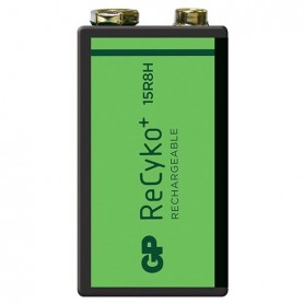 GP - GP 6F22/9V GP ReCyko+ 150 Series 150mAh Rechargeable - Other formats - BL265-CB www.NedRo.us