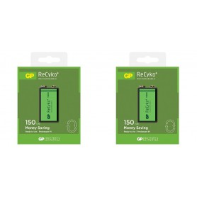 GP - GP 6F22/9V GP ReCyko+ 150 Series 150mAh Rechargeable - Other formats - BL265-2x www.NedRo.us