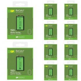 GP - GP 6F22/9V GP ReCyko+ 150 Series 150mAh Rechargeable - Other formats - AL265-10x www.NedRo.us