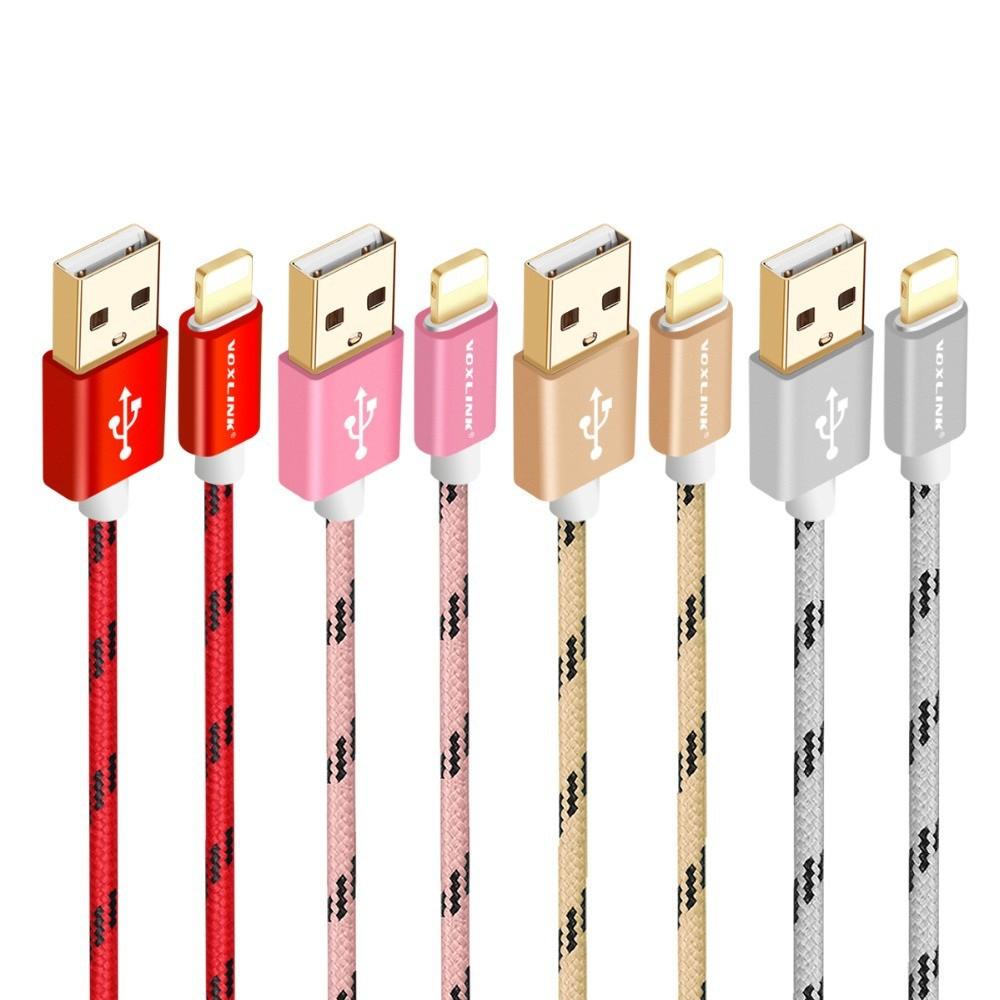 GOLF - VOXLINK cablu pentru iPhone 7 6 6s 6 Plus iPad Mini Pro 2 3 - iPhone cabluri de date - AL053 www.NedRo.ro