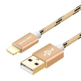 VOXLINK - VOXLINK cable for iPhone 7 6 6s 6 Plus iPad Mini Pro 2 3 - iPhone data cables  - AL141-3M www.NedRo.us