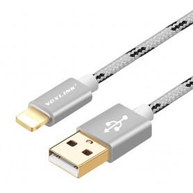 VOXLINK - VOXLINK cable for iPhone 7 6 6s 6 Plus iPad Mini Pro 2 3 - iPhone data cables  - AL142-2M www.NedRo.us