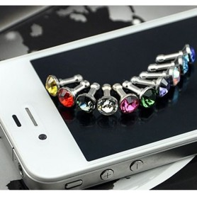 10 Stuks 3.5mm Diamant Stofkap iPhone Samsung HTC Sony