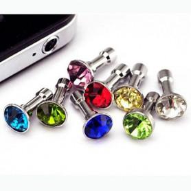 NedRo - 10 bucăți Dop antipraf 3.5mm Diamant iPhone Samsung HTC Sony - Accesorii telefon - AL057 www.NedRo.ro