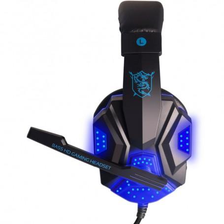 NedRo - Surround Stereo Gaming Headset met microfoon en LED - Koptelefoon en Accessoires - AL071-BU www.NedRo.nl