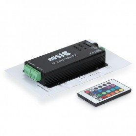 Zwarte 12V 24-toetsen RGB Muziek LED Controller Geluidssensor