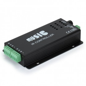 Oem - Black 12V 24 Keys RGB Music LED Controller Sound Sensor - LED Accessories - LCR33