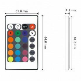 NedRo - Zwarte 12V 24-toetsen RGB Muziek LED Controller Geluidssensor - LED Accessoires - LCR33 www.NedRo.nl