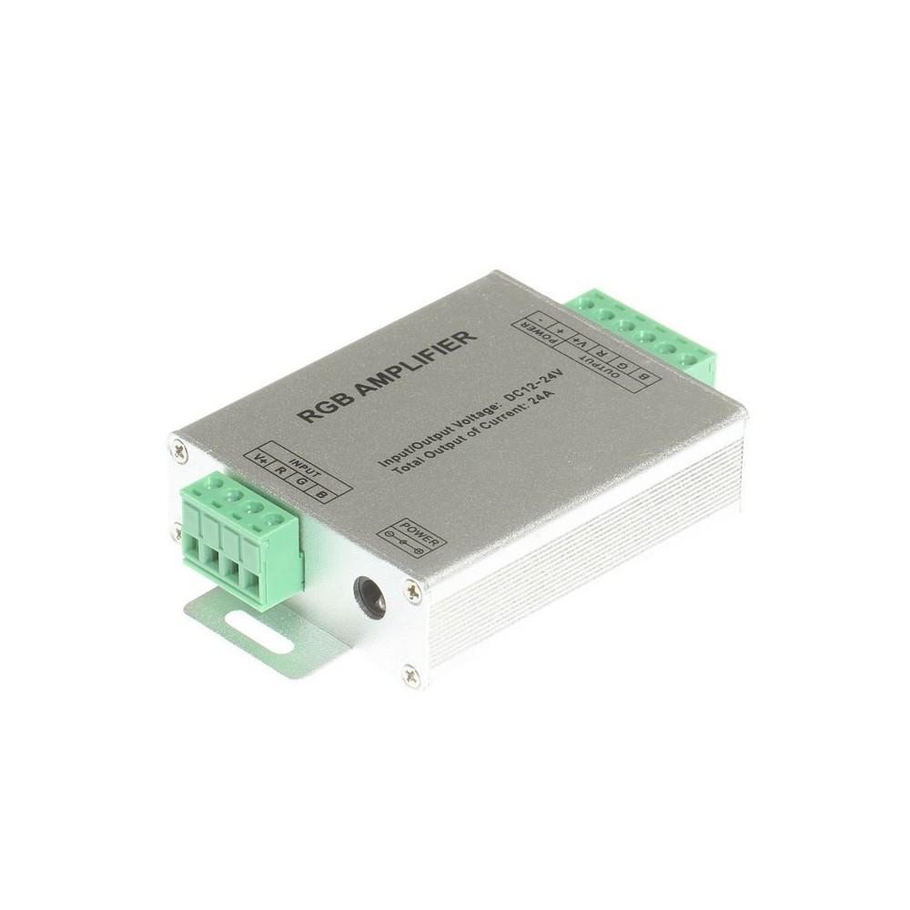 NedRo - 12V-24V 24A RGB LED controler amplificator de semnal - LED Accessorii - LCR70 www.NedRo.ro