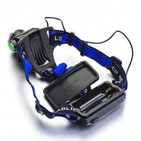 NedRo - 1200Lm CREE XM-L T6 LED hoofdlamp - Zaklampen - HLP03 www.NedRo.nl