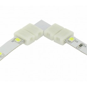 NedRo - 8mm L Connector voor 1 kleur SMD3528 LED strips - LED connectors - LSC21-CB www.NedRo.nl