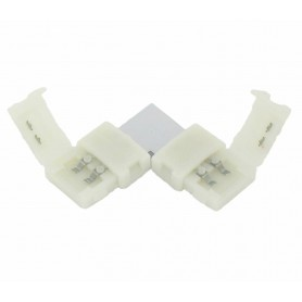 NedRo - 8mm L Connector voor 1 kleur SMD3528 LED strips - LED connectors - LSC21-5x www.NedRo.nl