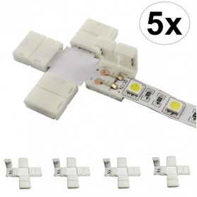 NedRo, 8mm X Connector voor 1 kleur SMD3528 LED strips, LED connectors, LSC23-CB, EtronixCenter.com