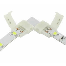 NedRo - 10mm L Connector voor 1 kleur SMD5050 5630 LED strips - LED connectors - LSC24-1x www.NedRo.nl