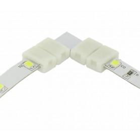 NedRo, Conector L de 10mm pentru benzi LED de 1 culoare SMD5050 5630, Conectori LED, LSC24-CB, EtronixCenter.com
