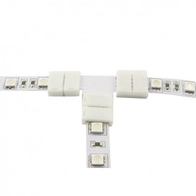NedRo, 10mm T Connector voor 1 kleur SMD5050 5630 LED strips, LED connectors, LSC25-CB, EtronixCenter.com