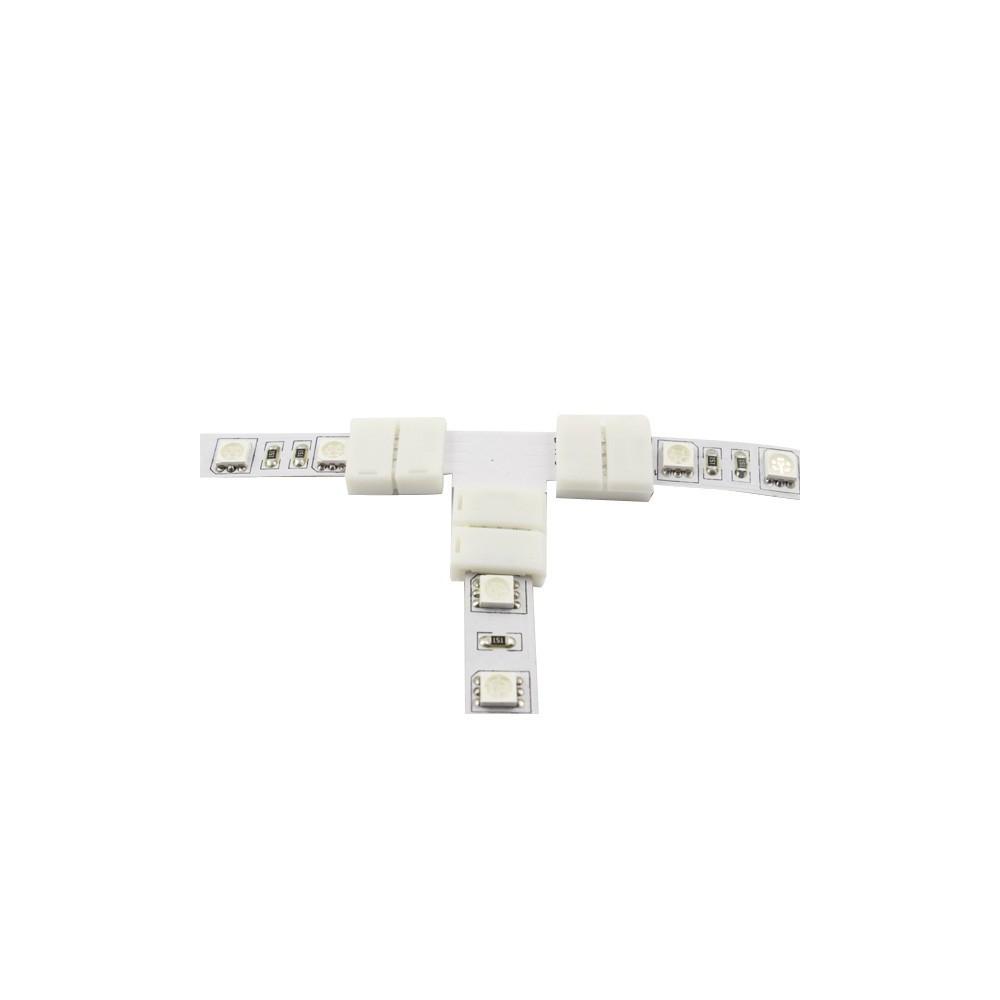 NedRo - Conector T de 10mm pentru benzi LED de 1 culoare SMD5050 5630 - Conectori LED - LSC25-1x www.NedRo.ro