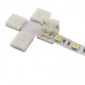 NedRo, Conector X de 10mm pentru benzi LED de 1 culoare SMD5050 5630, Conectori LED, LSC26-CB, EtronixCenter.com