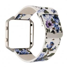Oem - Flowery Hip Eco Leather Bracelet for Fitbit Blaze with Housing - Bracelets - AL089-CB