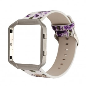 NedRo, Bloemrijk Hip Eco Leer Armband voor Fitbit Blaze met Behuizing, Armbanden, AL089-CB, EtronixCenter.com