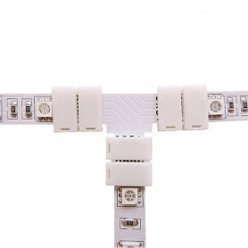 NedRo - 10mm T Connector for RGB SMD5050 5630 LED strips - LED connectors - LSC28-CB www.NedRo.us