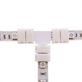 NedRo - Conector T de 10mm pentru benzi RGB SMD5050 5630 - Conectori LED - LSC28-CB www.NedRo.ro