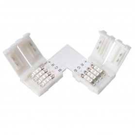 NedRo - 10mm L Connector for RGB SMD5050 5630 LED strips - LED connectors - LSC27-5x www.NedRo.us
