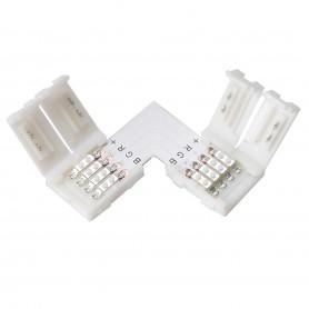Conector L de 10mm pentru benzi RGB SMD5050 5630