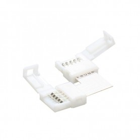 NedRo, 12mm 5Pin L Connector voor RGBW SMD5050 5630 LED strips, LED connectors, LSC41-CB, EtronixCenter.com