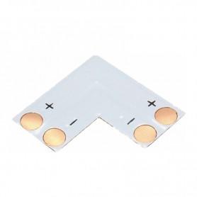 NedRo, Conector PCB L de 8mm pentru benzi LED de 1 culoare SMD3528 3014, Conectori LED, LSC12-CB, EtronixCenter.com
