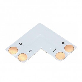 NedRo, Conector PCB L de 10mm pentru benzi LED de 1 culoare SMD5050 5630, Conectori LED, LSC15-CB, EtronixCenter.com
