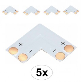 NedRo, 10mm L PCB Connector voor 1 kleur SMD5050 5630 LED strips, LED connectors, LSC15-CB, EtronixCenter.com