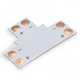 NedRo, Conector PCB T de 10mm pentru benzi LED de 1 culoare SMD5050 5630, Conectori LED, LSC16-CB, EtronixCenter.com