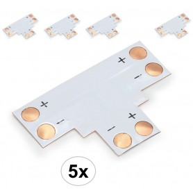 NedRo, 10mm T PCB Connector voor 1 kleur SMD5050 5630 LED strips, LED connectors, LSC16-CB, EtronixCenter.com