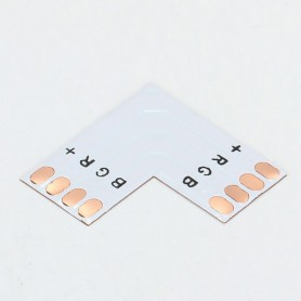NedRo, 10mm 4-Pin L PCB Connector voor RGB SMD5050 5630 LED strips, LED connectors, LSC18-CB, EtronixCenter.com
