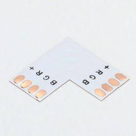 NedRo, Conector PCB L de 10mm 4-Pini pentru benzi LED RGB SMD5050 5630, Conectori LED, LSC18-CB, EtronixCenter.com
