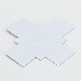 NedRo - 10mm 4-Pin X PCB Connector for RGB SMD5050 5630 LED strips - LED connectors - LSC20-CB www.NedRo.us