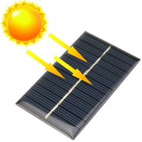 NedRo - 6V 1W 110x60mm Mini solar panel - DIY Solar - AL104