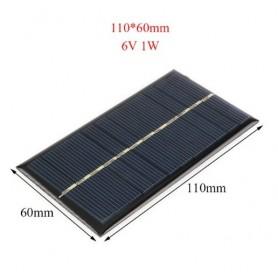 Oem - 6V 1W 110x60mm Mini solar panel - DIY Solar - AL104