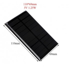 NedRo - 5V 1.25W 110x69mm Mini solar panel - DIY Solar - AL111
