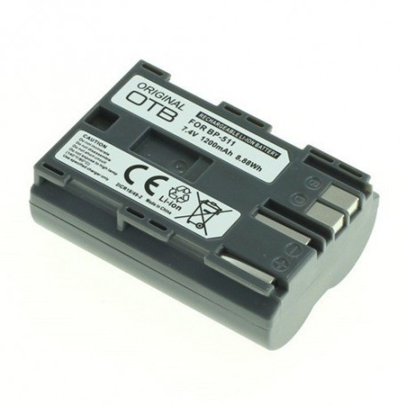 OTB, Batterij voor Canon BP-511 Li-Ion 1200mAh, Canon foto-video batterijen, ON1810, EtronixCenter.com