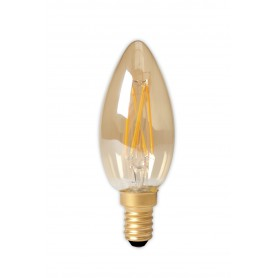 Calex - LED Filament E14 240V 3.5W 200lm B35, Gold 2100K Dimmable - Vintage Antic - CA0238-1x www.NedRo.ro