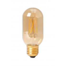 Calex - E27 4W 240V Calex LED volglas gloeidraad buis type lamp 320lm T45L goud 2100K dimbaar - Vintage Antiek - CA0240-1x ww...