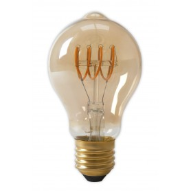Calex - Calex LED Full Glass Flex Filament GLS-lamp 240V 4W 200lm E27 A60DR, Gold 2100K Dimmable - Vintage Antique - CA0250-2...